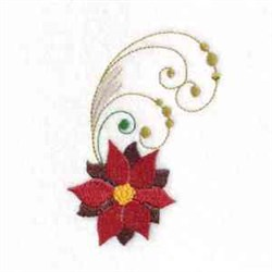 Poinsettia Swirl embroidery design