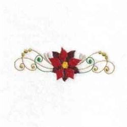 Poinsettia Blossom embroidery design