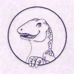 Dino Head embroidery design