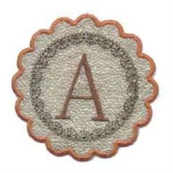 Fall Alphabet A embroidery design