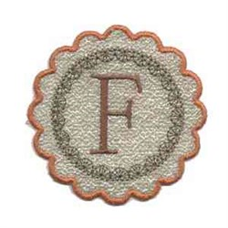 Fall Alphabet F embroidery design