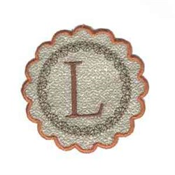 Fall Alphabet L embroidery design
