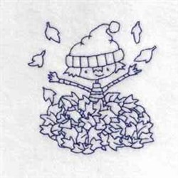 Boy In Leaves embroidery design