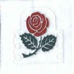 Rose Tea Light embroidery design