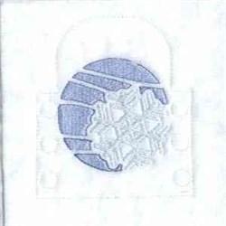 Snowflake Tea Light embroidery design