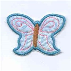 Teal Butterfly embroidery design
