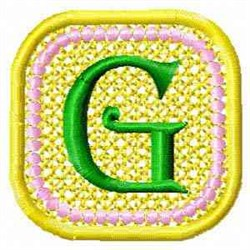 FSL Spring Banner G embroidery design
