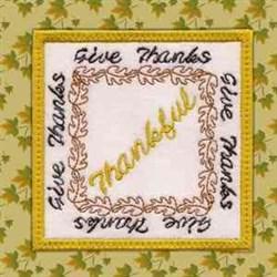 Thankful Coaster embroidery design