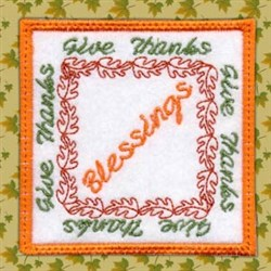Blessings Coaster embroidery design