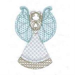 Angels embroidery design