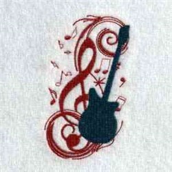 Music Guitar embroidery design