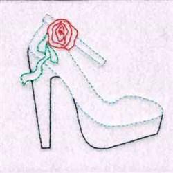 High Heel Outline embroidery design
