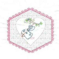 Sunbonnet Quilt embroidery design