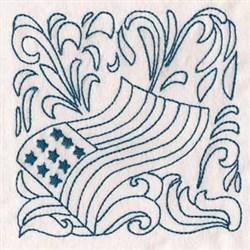 Patriotic Quilt Block embroidery design
