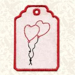 Heart Gift Tag embroidery design