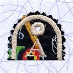 Key Tab Alphabet A embroidery design