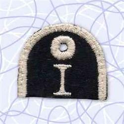 Key Tab Alphabet I embroidery design