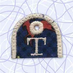 Key Tab Alphabet T embroidery design