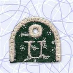 Key Tab Alphabet U embroidery design