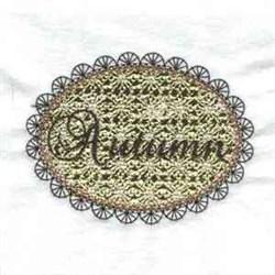 Autumn embroidery design