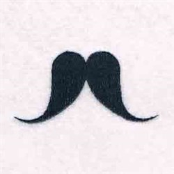 Droopy Moustache embroidery design
