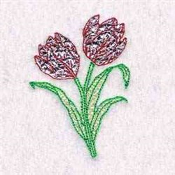 Mylar Tulips embroidery design
