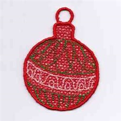Red Ornament embroidery design