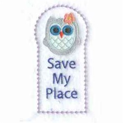Save My Place embroidery design