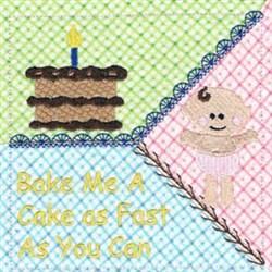Patty Cake Square embroidery design