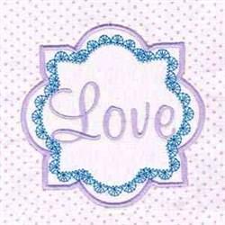 Love Block embroidery design