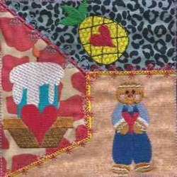 Primitive Sweetheart Quilt embroidery design