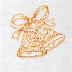 Redwork Holiday Bells embroidery design
