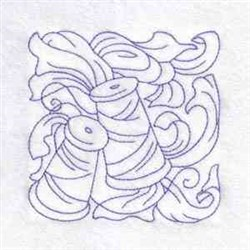 Redwork Sewing Square embroidery design