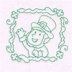 Leprechaun Quilt Block embroidery design