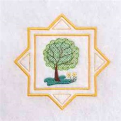 Summer Time Tree embroidery design