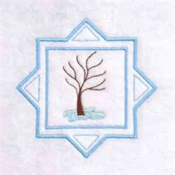 Winter Time Tree embroidery design
