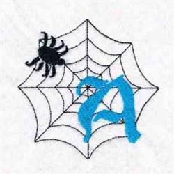 Spiderweb Letter A embroidery design