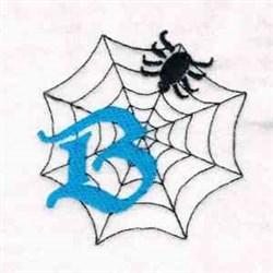 Spiderweb Letter B embroidery design
