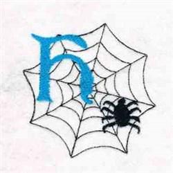 Spiderweb Letter H embroidery design
