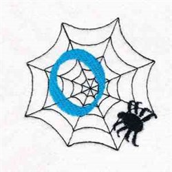 Spiderweb Letter O embroidery design