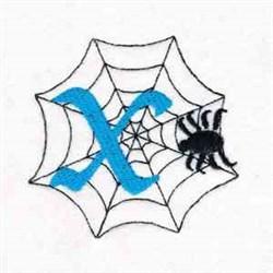 Spiderweb Letter X embroidery design