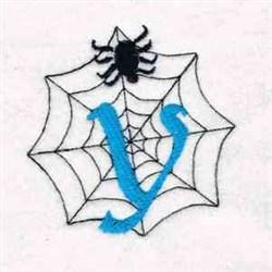 Spiderweb Letter Y embroidery design