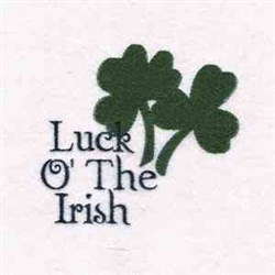 Luck O Irish embroidery design