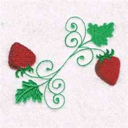 Two Strawberries embroidery design