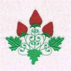 Three Strawberries embroidery design