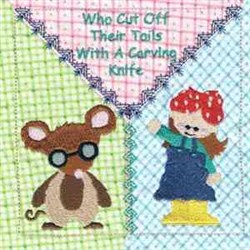3 Blind Mice Block embroidery design