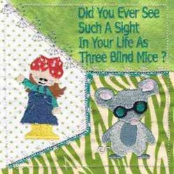 Three Blind Mice Quilt embroidery design