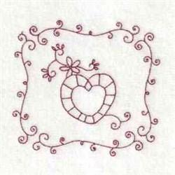 Valentine Quilt Block embroidery design