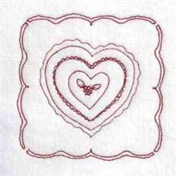 Heart Quilt embroidery design