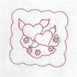 Hearts Quilt Blocks embroidery design